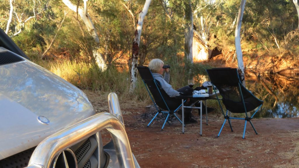 A twitcher! At our campsite beside the Middle branch of the Gascoyne River.