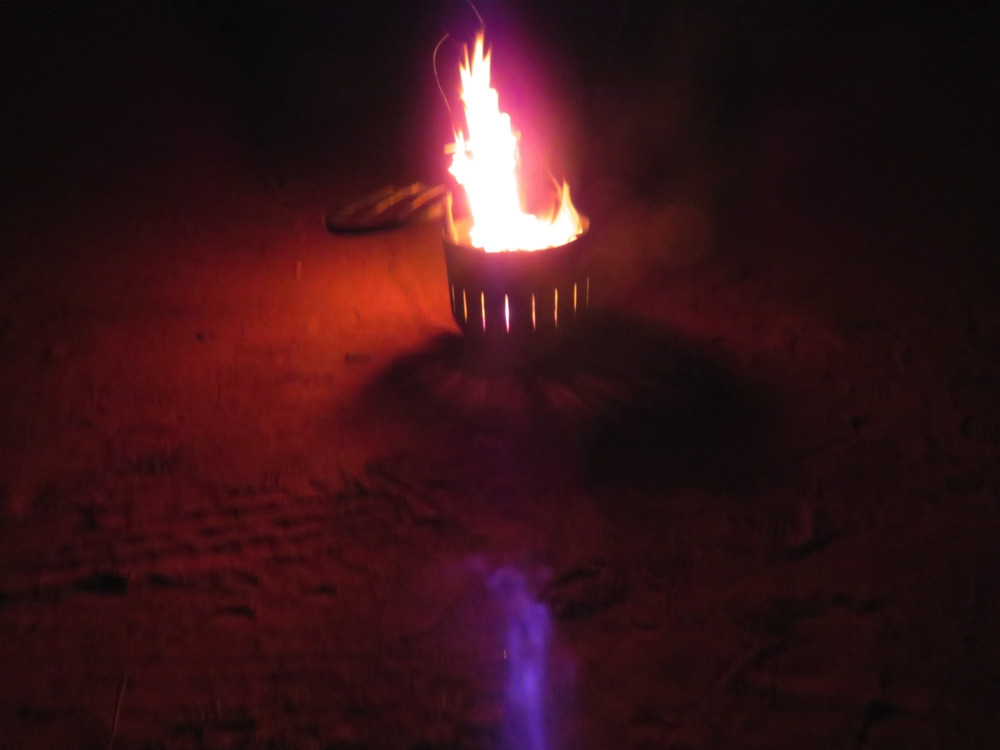 Every night we had a blazing fire in Ken's natty little fire pit.