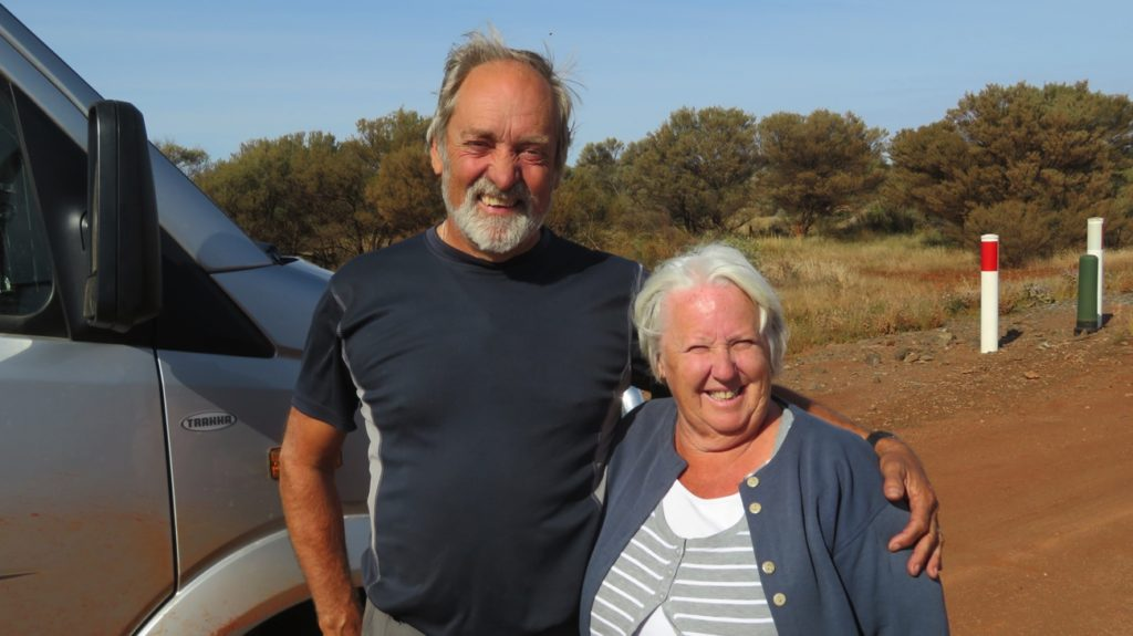 Ken and Wendy - just finished the Great Central Road. Still smiling!