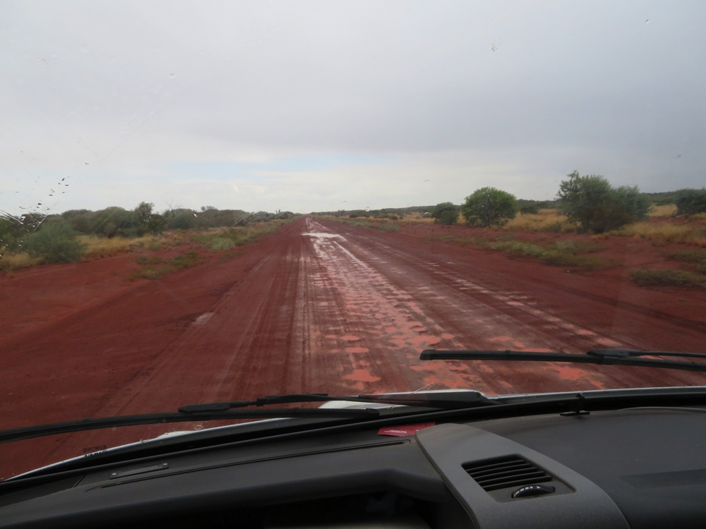 The Great Central Road in the rain. It wasn't enough to give us any problems though.